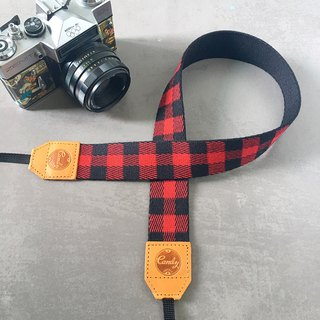 Red Scott Mirrorless or DSLR Camera Strap