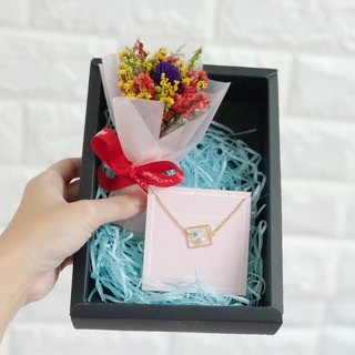 Dream Catcher Dry Flower Box Set Necklace Birthday Gift Christmas Star