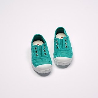 Spanish nationals canvas shoes CIENTA children's shoes jacquard gemstone green fragrance shoes 70998 78