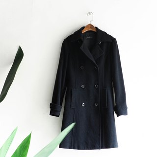River Water - Hyogo pure melanoma classic minimalist girl sheep antique wool coat wool wool vintage wool vintage overcoat