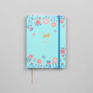 Flower and Cat Emblem A5 Notebook / Sketchbook