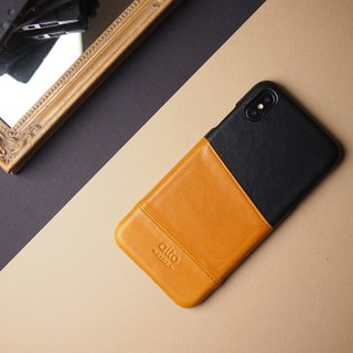 Alto iPhone Xs Max Metro Leather Case – Caramel/Raven
