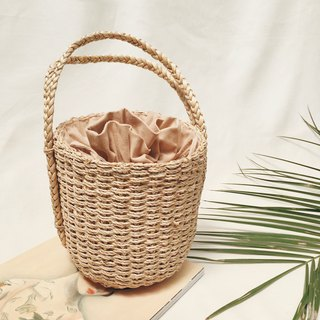 Natural Straw Cylinder Handbag