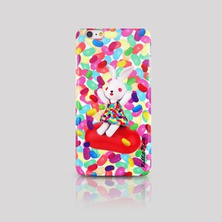 (Rabbit Mint) Mint Rabbit Phone Case - Bu Mali Candy Merry Boo Jelly Bean - iPhone 6 Plus (M0020)