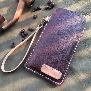 Hin window leather art - handmade leather - cell phone bag hand-made vegetable tanned chrome tanned customized custom Wen-ching