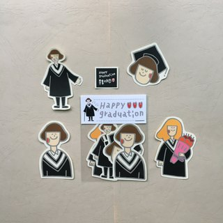 Graduation happy sticker group