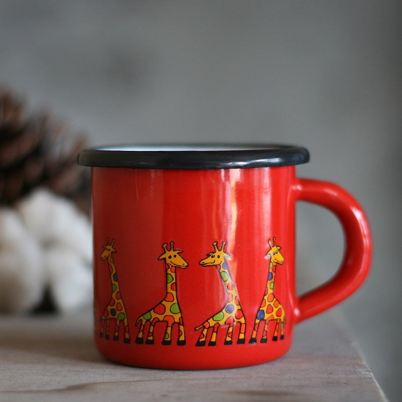 Smaltum Prague Enamel Cup Ancient Cone Giraffe_ Solanum (285ml) (FDN000413)