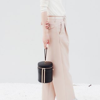 MBS Sugino Makes Holiday Series Tassels Round Bucket Bag Leather Handbag