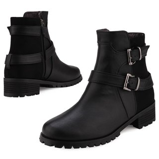 SPUR Wide belted boots JF7071 BLACK