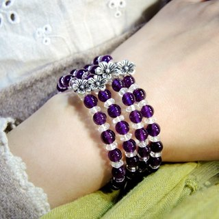 """Flower feast Banquet"" magnificent flower border Princess Amethyst bracelet ring"