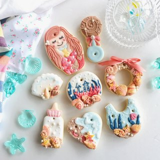 Receiving Frosted Biscuits • Mermaid Ariel Female Baby Creative Gift Box 8 Pieces