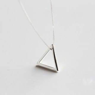 Big staff Taipa [handmade silver] geometric triangle sterling silver necklace