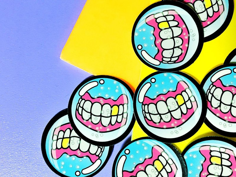Bubble dentures - two groups / stickers