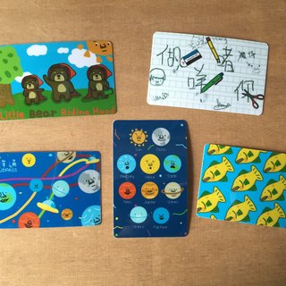 Swimming waterproof stickers Octopus Card