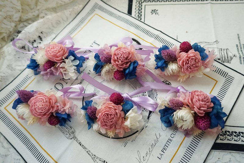 Dry bridesmaid wrist flower*exchange gift*Valentine's Day*wedding*birthday gift