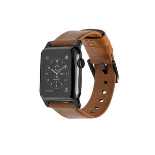 American NOMAD Apple Watch leather strap - modern black (856504004804) (42mm