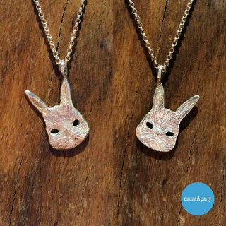 EmmaAparty handmade sterling silver necklace '' mask rabbit '
