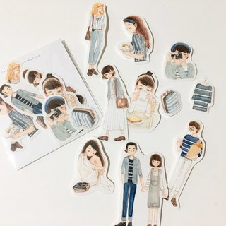 / Stickers/ Stripe Lovers / 10pcs /