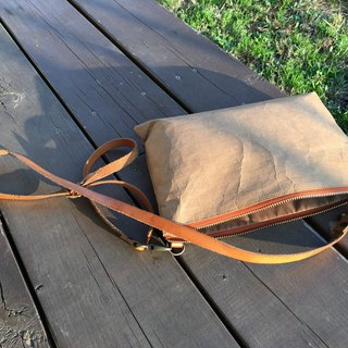 Clutch Bag S : Kraft paper bag long strap