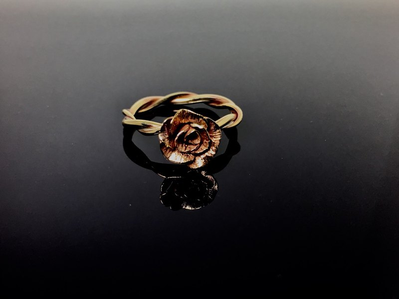 AJEOSSI [hand × custom × DIY] brass, red copper x rose ring