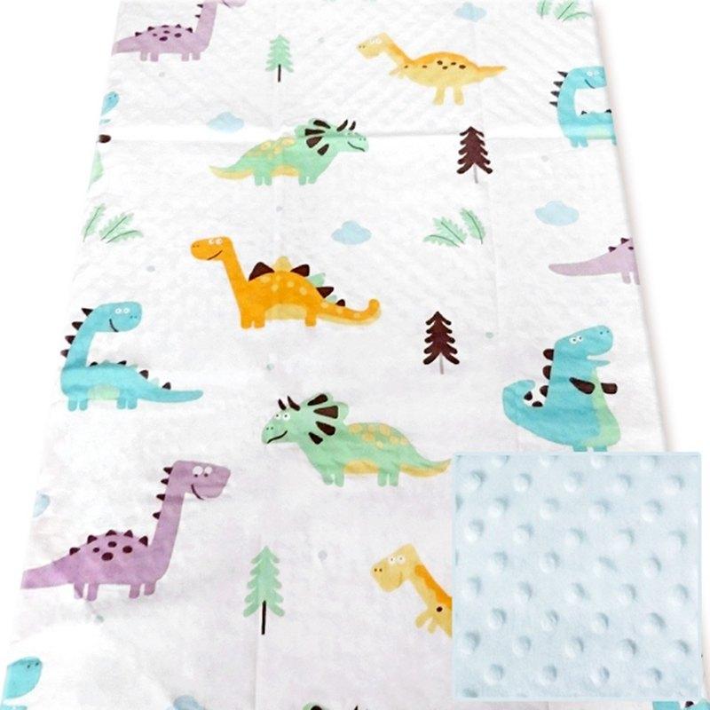 Minky多功能 點點顆粒 攜帶毯嬰兒毯冷氣毯被 藍色-恐龍