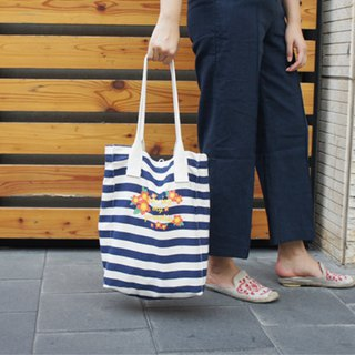 A. Strawberry draws my paradise striped shoulder bag