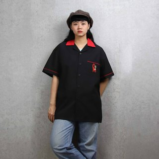 Tsubasa.Y ancient house bowling shirt 004, bowling shirt, short-sleeved shirt thin shirt