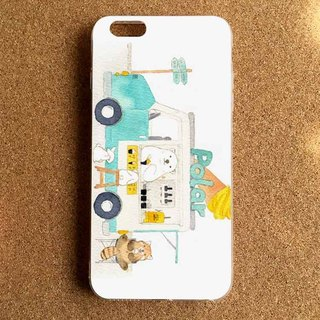 Polar bear white bear ice cream car illustration mobile phone shell more models