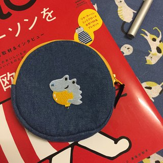 Denim small round bag_Animal resident
