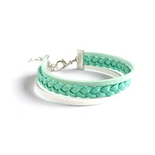 Handmade Double Braided Stylish Bracelets–mint green limited