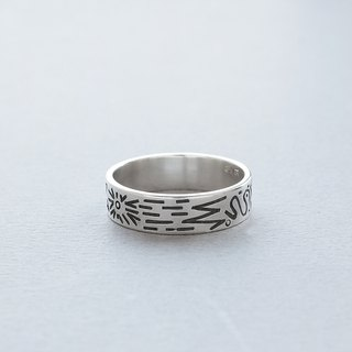 Doodle Silver Ring 005 - size 19JP