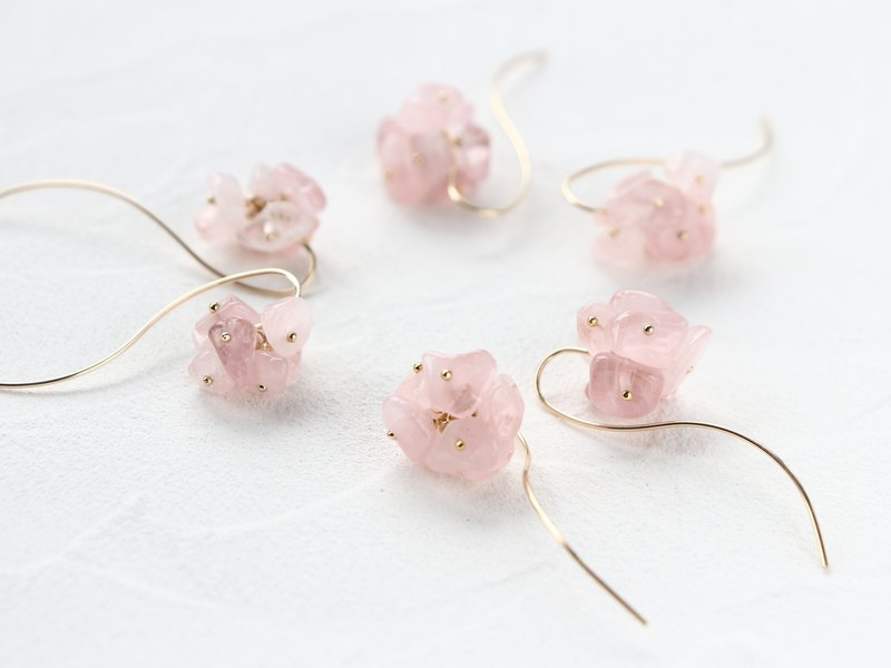 14 kg f - cherry blossom pierced earrings