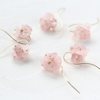 14kgf- cherry blossom pierced earrings