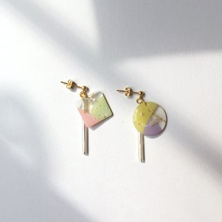 Magic conductor clip-on/needle earrings