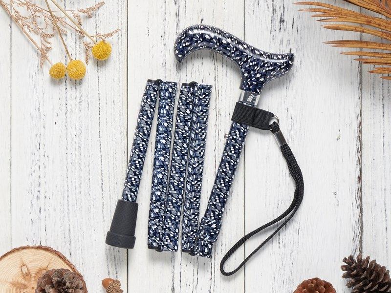 【爸媽實用禮物】繽紛生活折疊手杖Premium - 前衛幾何