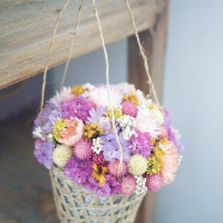 Dried flower basket flower ceremony
