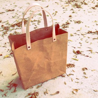 Shopping Bag Small : Tyvek and Kraft paper bag