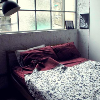 The Day that Spring light Shine_100% organic cotton bedding set_Queen