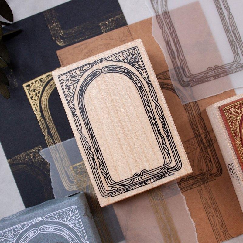 古色框 - 楓木印章 - 拜占庭風格