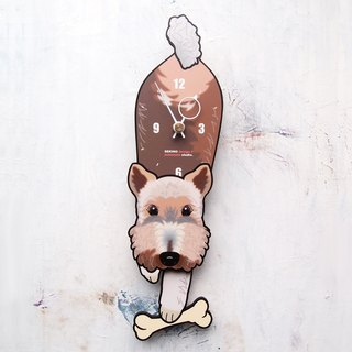 D-59  Wire Fox Terrier - Pet's pendulum clock