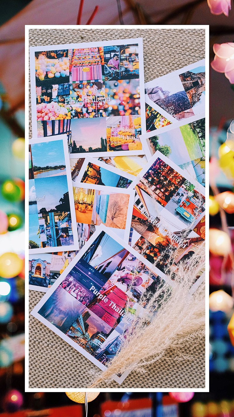I want to travel-People's Landscape Simple Photography Postcard│Paper Products│Decoration│Original