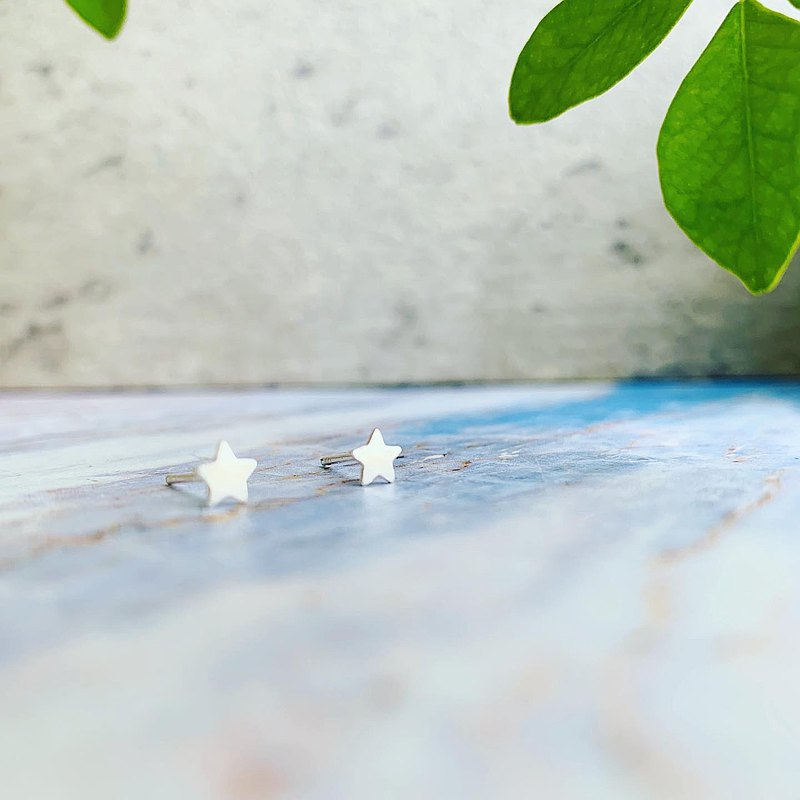 925 sterling silver / simple and shiny • Star ear pin
