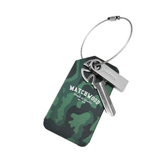 Matchwood Luggage Tag (metal luggage tag / key ring) matting camouflage