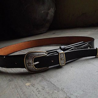 WEST Rangers handmade leather belt handmade tooling Knight western style Italian vegetable tanned leather hand-dyed production