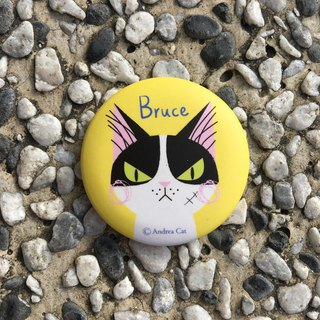 Big Head Cat badge - Bruce Bruce