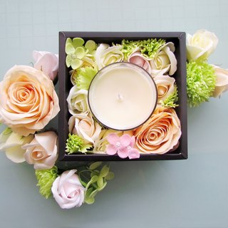Flower & Fragrance - Soap & Fragrance Candle Gift Box [Pure White Rose]
