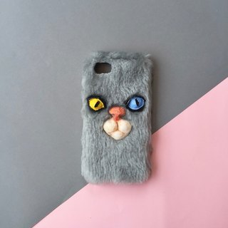 CAT GREY PHONE CASE