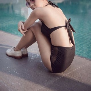 "swimwear - collection ""popcorn"" / black / size s."