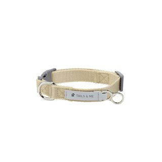 [Tail and me] classic nylon belt collar khaki