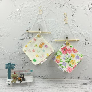 G13-soft soft gauze handkerchief (six-layer gauze) double-sided pattern cats & flowers in fairy tales